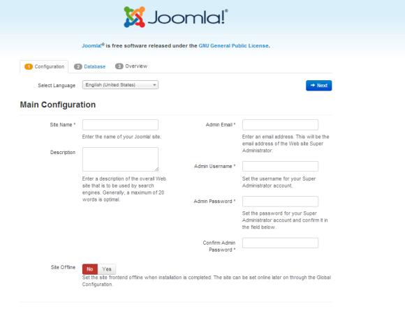 Joomla Page Installation