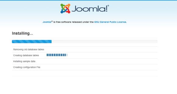 Joomla Proses Installation