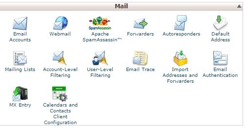 Group Mail cPanel Menu