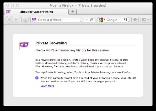 Mozilla Firefox Private Browsing